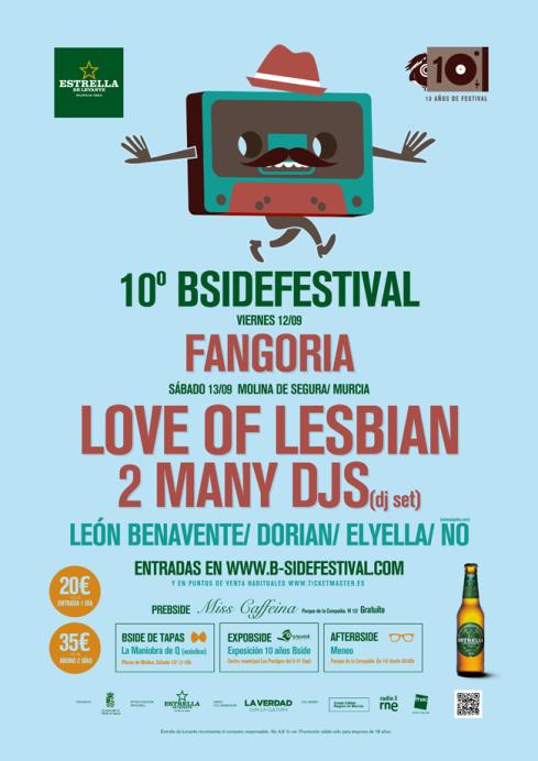 B side festival decimo aniversario cartel