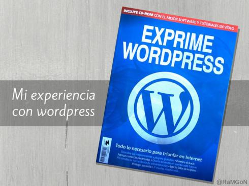 Mi experiencia con wordpress